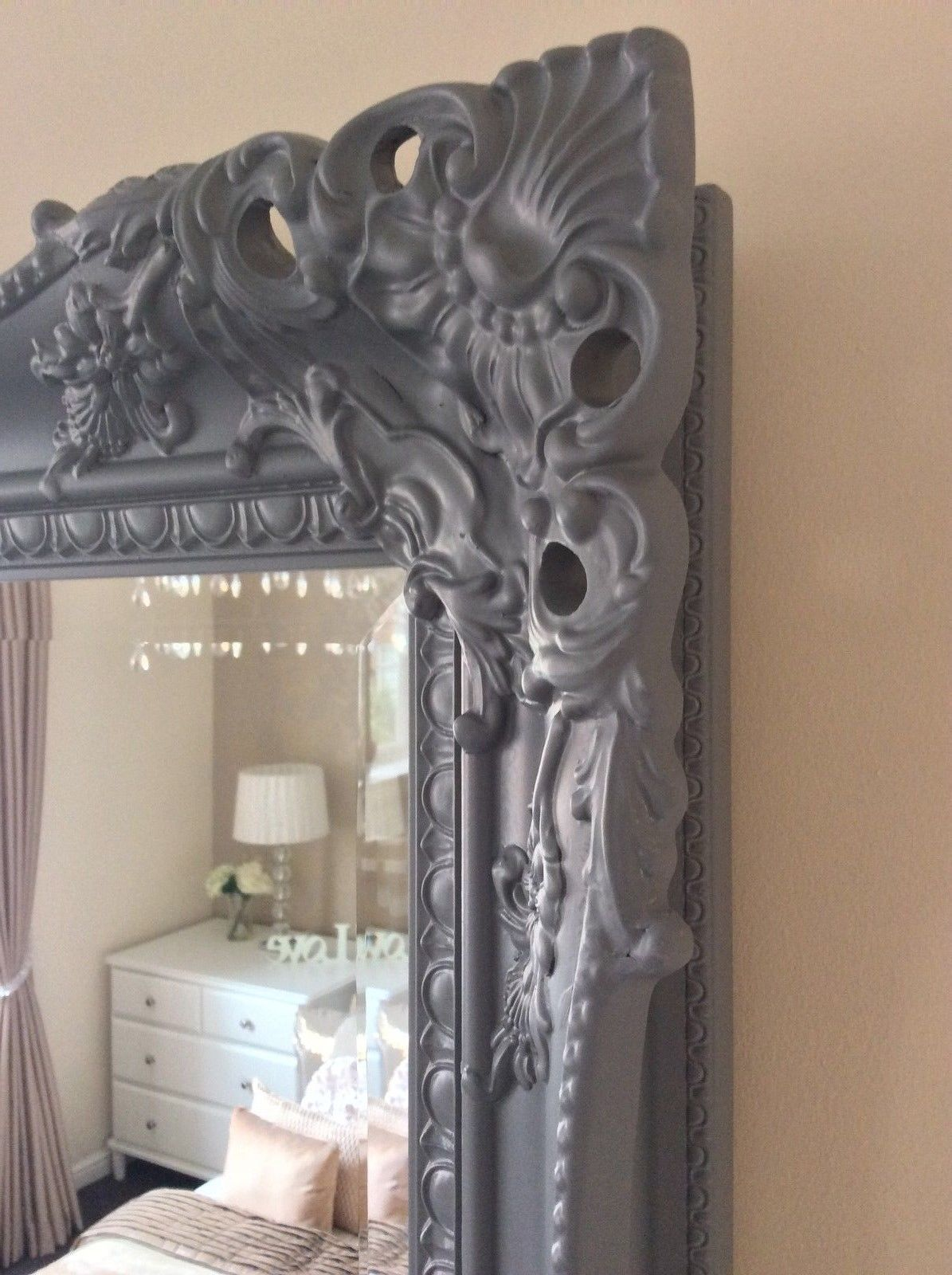 Next Charlotte Decorative Grey Mirror Stunning Choice Of